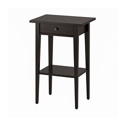 HEMNES - Bedside table, black-brown