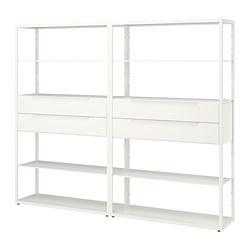 FJÄLKINGE - FJÄLKINGE, unit rak dengan laci, putih, 236x35x193 cm