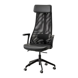 JÄRVFJÄLLET - Office chair with armrests, Glose black