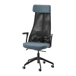 JÄRVFJÄLLET - JÄRVFJÄLLET, kursi kantor dgn sndrn tangan, Gunnared biru/hitam