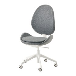 HATTEFJÄLL - Office chair, Gunnared medium grey