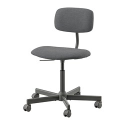 BLECKBERGET - Swivel chair, Idekulla dark grey