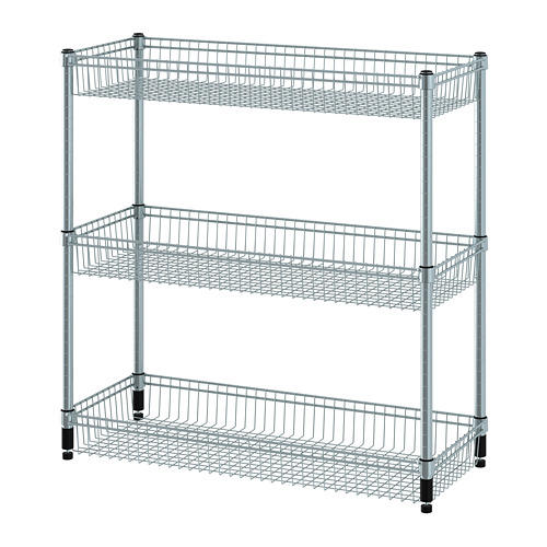 OMAR shelving unit with 3 baskets