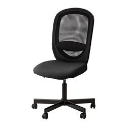 FLINTAN - Office chair, Vissle black