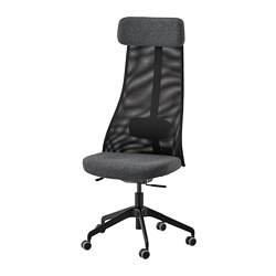 JÄRVFJÄLLET - Office chair, Gunnared dark grey
