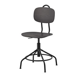 KULLABERG - Swivel chair, black