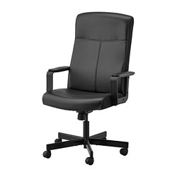 MILLBERGET - Swivel chair, Bomstad black