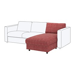 VIMLE - Chaise longue section, Dalstorp multicolour