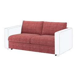 VIMLE - 2-seat sofa-bed section, Dalstorp multicolour