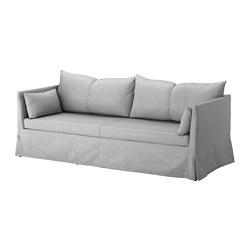 SANDBACKEN - 3-seat sofa, Frillestad light grey