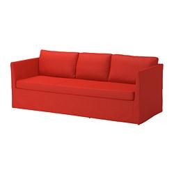 BRÅTHULT - 3-seat sofa, Vissle red/orange