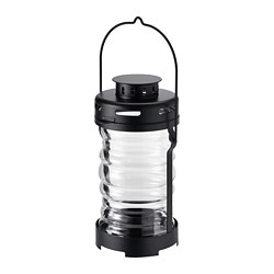 GLIMRANDE - Lantern for tealight, in/outdoor, black