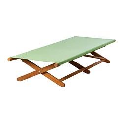 SOLBLEKT - Kursi berjemur, dapat dilipat eucalyptus/hijau