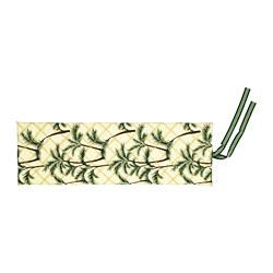 SOLBLEKT - Bantalan bangku berjemur, motif daun kelapa kuning