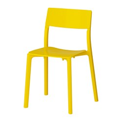JANINGE - Chair, yellow