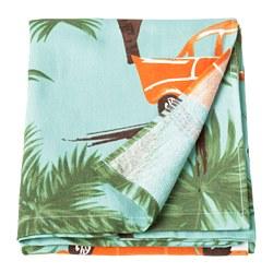 SOLBLEKT - Handuk pantai, motif palem/mobil biru