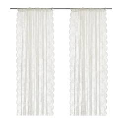 ALVINE SPETS - Net curtains, 1 pair, off-white