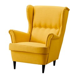 STRANDMON - Wing chair, Skiftebo yellow