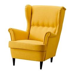 STRANDMON - Kursi bersayap, Skiftebo kuning