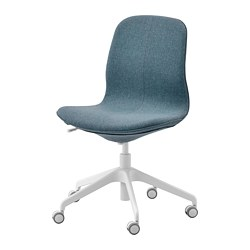 LÅNGFJÄLL - Office chair, Gunnared blue/white