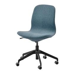 LÅNGFJÄLL - Office chair, Gunnared blue/black