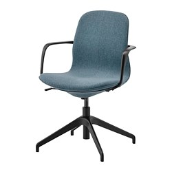 LÅNGFJÄLL - Conference chair with armrests, Gunnared blue/black