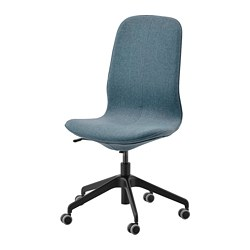 LÅNGFJÄLL - Office chair, Gunnared blue/black