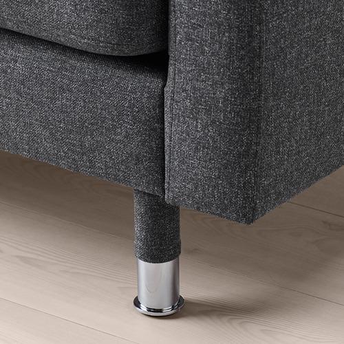 LANDSKRONA - kursi berlengan, Gunnared abu-abu tua/logam   IKEA Indonesia - PE711001_S4