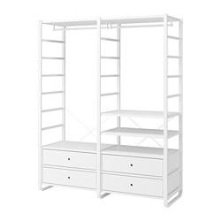 ELVARLI - 2 bagian, putih, 165x55x216 cm