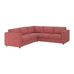 VIMLE - Corner sofa, 4-seat, Dalstorp multicolour