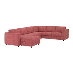 VIMLE - Corner sofa, 5-seat, with chaise longue/Dalstorp multicolour