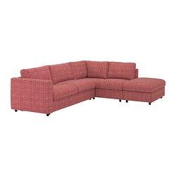 VIMLE - Corner sofa-bed, 4-seat, with open end/Dalstorp multicolour