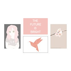YLLEVAD - Kartu seni, Life in pink