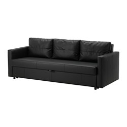 FRIHETEN - Three-seat sofa-bed, Bomstad black