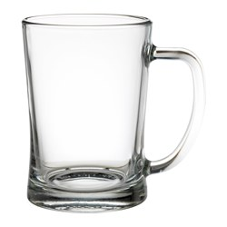 MJÖD - Beer tankard, clear glass