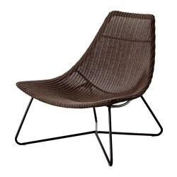 RÅDVIKEN - Kursi berlengan, cokelat tua/hitam