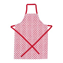 VINTERFEST - Apron, patterned white/red