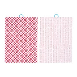 VINTERFEST - Tea towel, patterned white/red