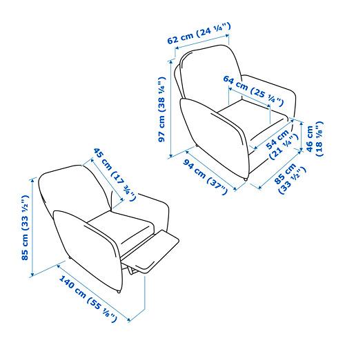 EKOLSUND - kursi malas, Gunnared abu-abu tua | IKEA Indonesia - PE789076_S4