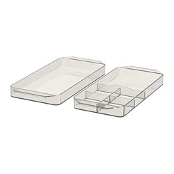 GODMORGON - Storage unit, set of 2, smoked