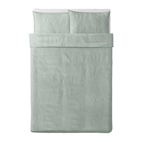 BERGPALM duvet cover dan 2 sarung bantal