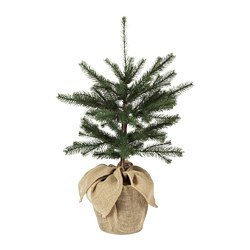 VINTER 2020 - Artificial potted plant, in/outdoor jute/Christmas tree green