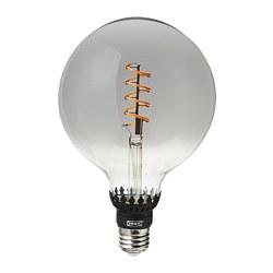 ROLLSBO - Bohlam LED E27 200 lumen, dapat diredupkan/bulat kaca bening abu-abu