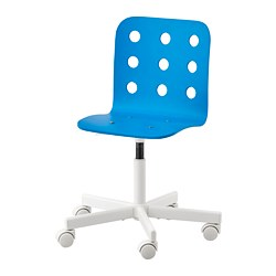 JULES - Children's desk chair, blue/white