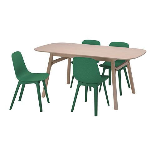 ODGER/VOXLÖV meja dan 4 kursi