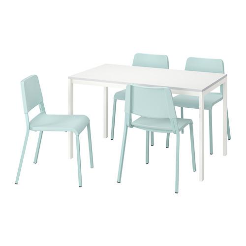 TEODORES/MELLTORP meja dan 4 kursi