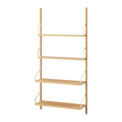 SVALNÄS - Wall-mounted shelf combination, bamboo