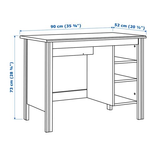 BRUSALI - meja, putih, 90x52 cm | IKEA Indonesia - PE645217_S4
