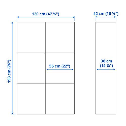 BESTÅ - kombinasi penyimpanan dengan pintu, putih/Lappviken putih, 120x42x193 cm | IKEA Indonesia - PE834586_S4