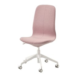 LÅNGFJÄLL - Office chair, Gunnared light brown-pink/white